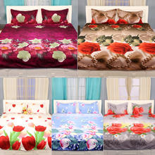 2017 Best selling Soft handle reactive printing 3d bedsheet fabric/Soft touch Home use For sale 3d polyester fabric for bedsheet