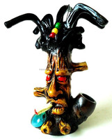 Figurine Shaped Hand Crafted Smoking Pipes - Rasta Tree
