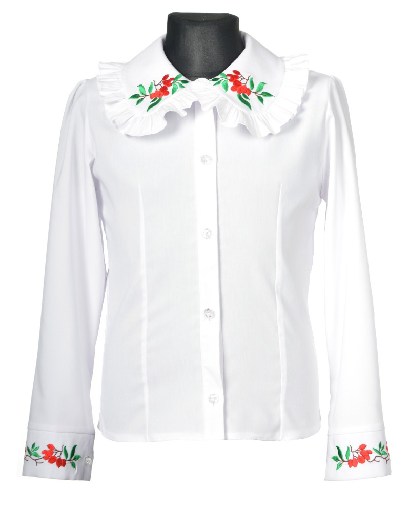 Wholesale shirt made in EU white shirt embroidery