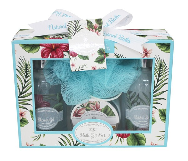 6 pcs Pure Lightening bath spa gift set in Mesh Bag