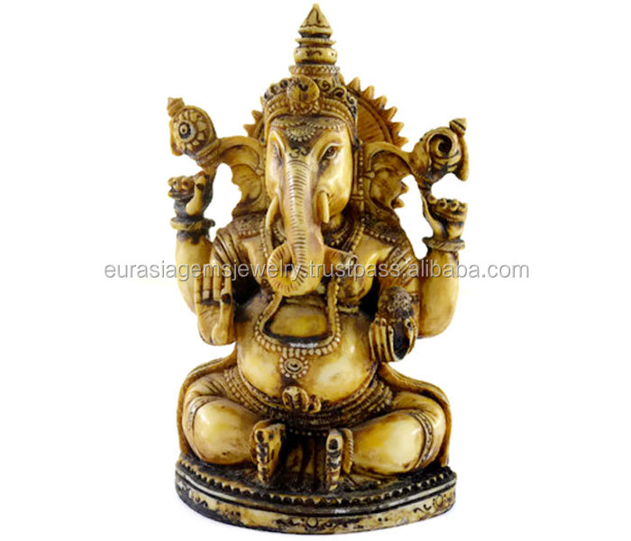 Wholesale good Handmade Antique Resin Idol of lord Ganesha Home Decor Item