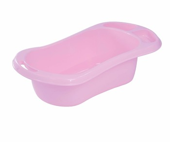 Plastic Baby bath Basin, comfortable design, help babies enjoy the bath