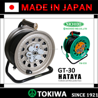 Elaborate HATAYA & NICHIDO'S cord reel, high adaptability to working environments (cord reel for home appliance)