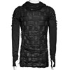Men S Black Hooded Longsleeve Top