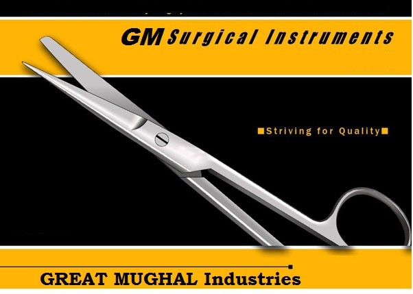 GM12072 Surgical Angled Scissors TC operating scissors instruments titanium Carbide best sell scissors
