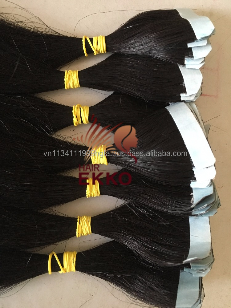 "18"" 20"" 22"" 24"" 40pcs 100g Natural black hair 100% Remy Human tape Italian Glue Skin Weft Hair Extensions"