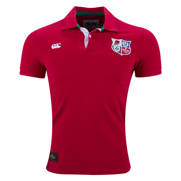 BRITISH & IRISH LIONS 1888 POLO SHIRT rugby Custom polo t shirts available fabric bamboo modal organic cotton