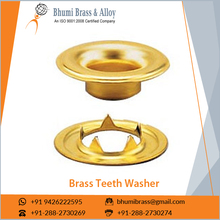 Optimum Quality Durable Finish Sharp Brass Teeth Washer from Reliable Supplier