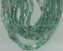 Apatite Tumbled Nugget Beads