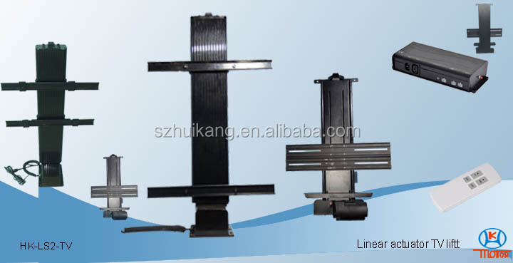 Quick and easy installed linear actuator lift tv for tv for Tv lift motor mechanism
