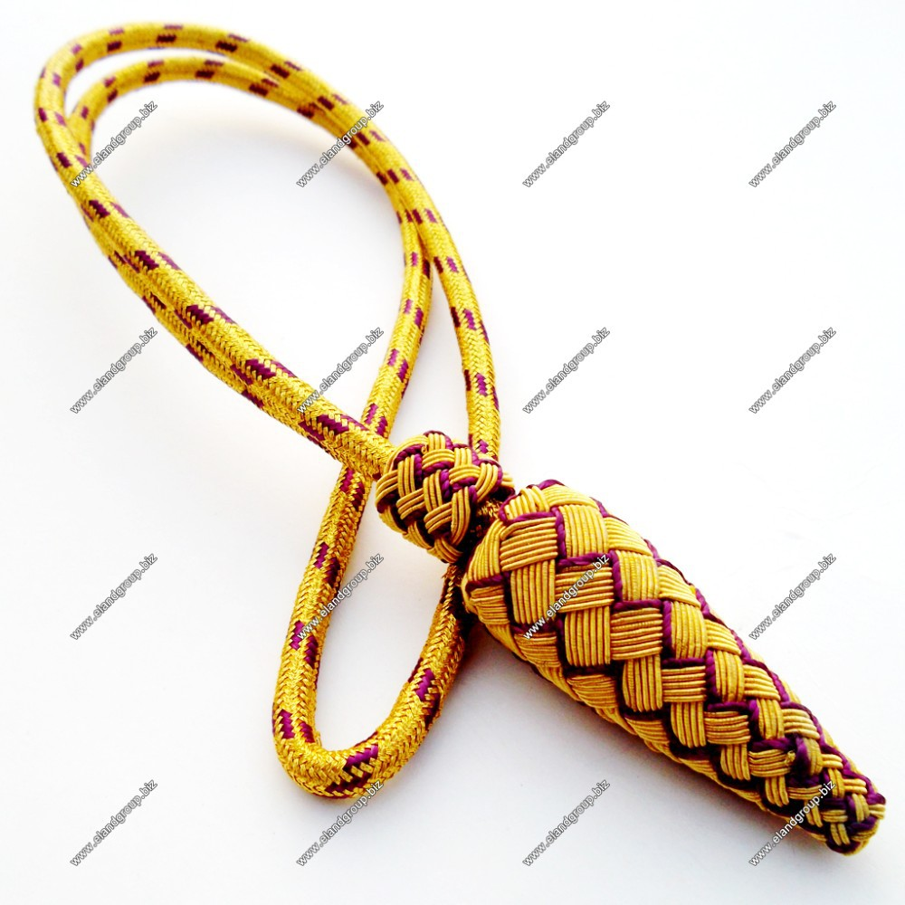 British Army Officers Sword Knot Gold & Purple| Military Uniforms Sword Knots | Royal Air Force Sword Knot
