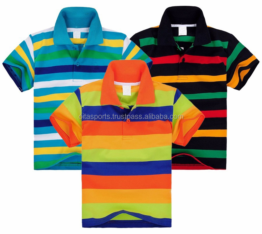 Boys striped polo shirt kids baby little toddler big boy's fashion clothes summer short sleeve 100% cotton tops