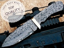 York Vivant, Custom Handmade Damascus Steel Fixed Blank Blade YV-631 Full Tang, Full Damascus & Brass Guard