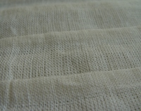 Corrugated linen cotton fabric White