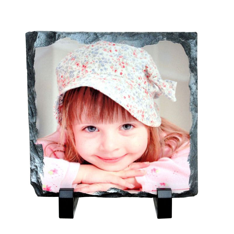20x20cm Sublimation Blank Square Heat Transfer Stone Photo Slate