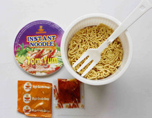 INSTANT NOODLES IN CUP, 65 GR/CUP- TOMYUM DELICIOUS FLAVOUR