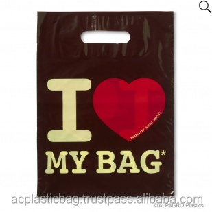 Promotion Die Cut Plastic Bags with High Quality of Printing and Film Quality