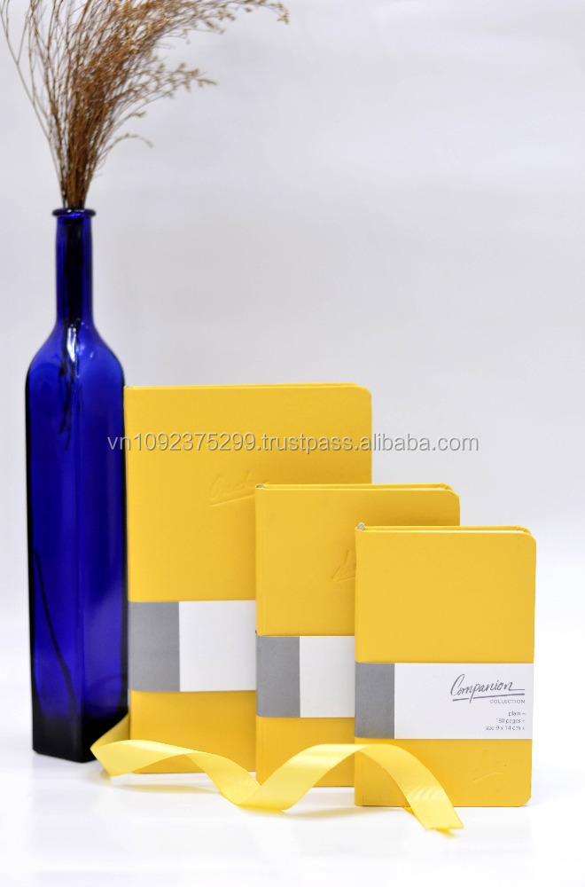 YELLOW PREMIUM HARD COVER A5 A6 COMPANION OFFICE NOTEBOOK, WHOLESALE GOOD QUALITY