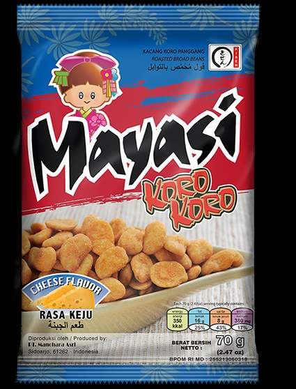 70 g Mayasi Coated Roasted Broad Beans Cheese