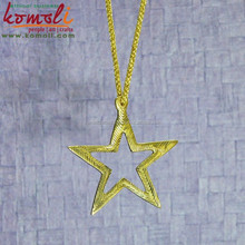Golden Star - Brass Metal Golden Handmade Christmas Tree Decorations - Customs Designs Available