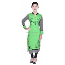 Exclusive Indian Pure Rayon Designer Printed Casual Wear Kurti VIKU5010