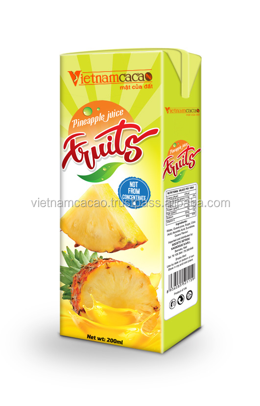 UHT Pineapple Fruit Juice 200ml TPA Whatsapp no. 00841297820581