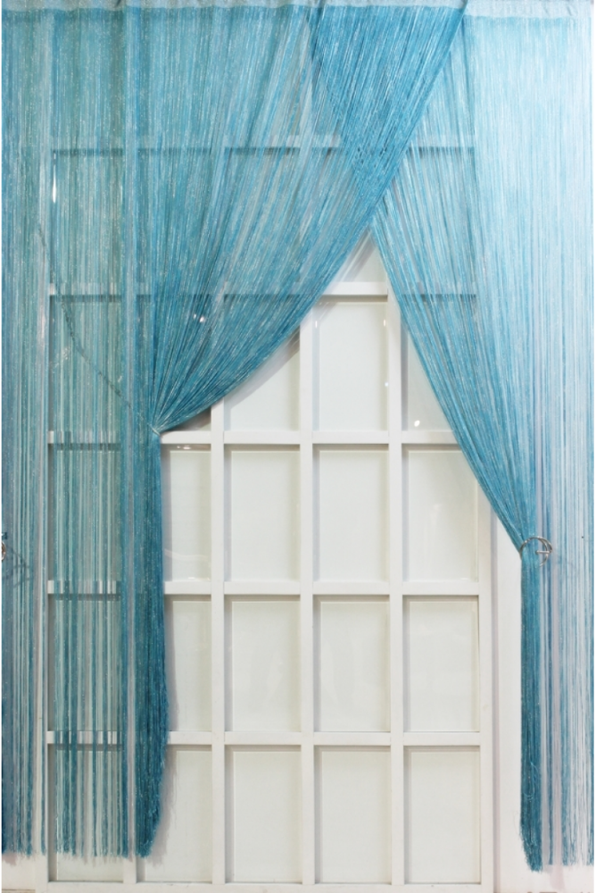 Modern Classic Turquoise Home String Curtain 170x270 cm