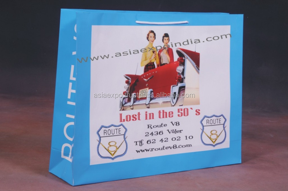 Paper Promotion Shopping Bags with Glossy / Matte Finish