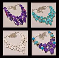 semi Precious gems stones necklace