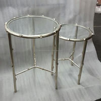 Unique Clear Glass Nesting Table