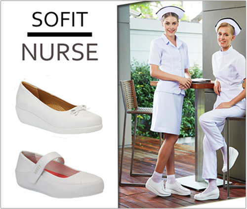SOFIT Premium Nurse Comfort Women Shoes made in Thailand