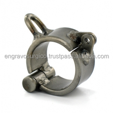 Stainless Steel Cock and Ball Shackle metal cock and ball rings