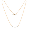 Gold Chain Necklace With Diamonds Pendant Diamond Jewelry 14k