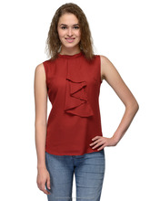 Womens Tops And Blouses Sleeveless Red Top