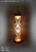 Eastern Culture Turkish Mosaic Glass Lamp Table Lamp