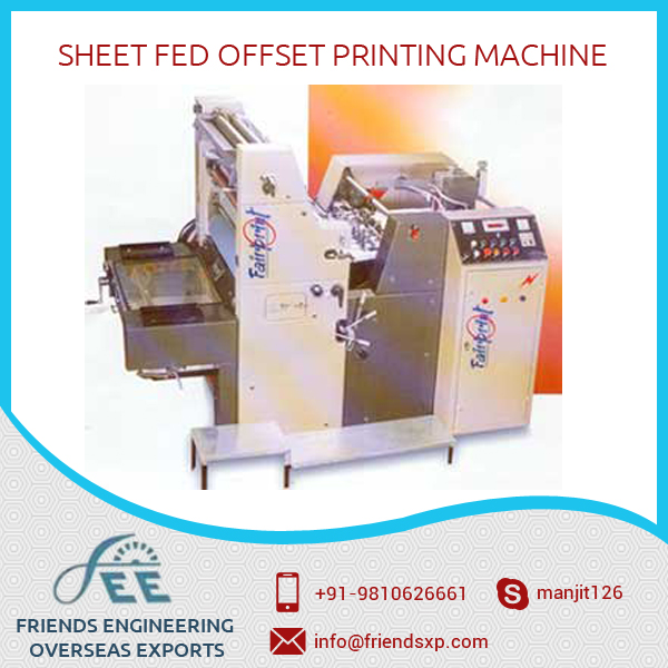 Bulk Supplier of Sheet Fed Offset Printing Machine at Considerable Price