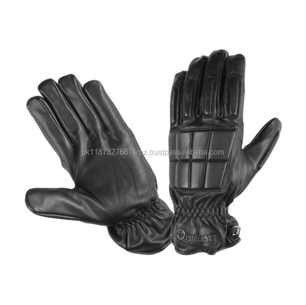 Wholesale Leather Police Tactical Riot Swat Gloves Airsoft