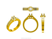 CAD design for fashion Ring at competitive price by professionals