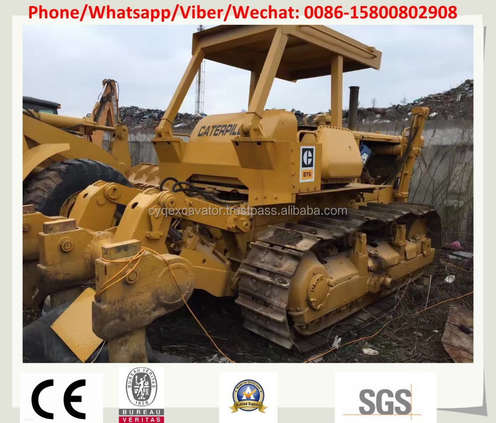 Used Caterpillar bulldozer, Japanese used bulldozer CAT D7G, D7H D7G D7R Bulldozer for sale