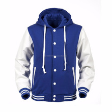 Baseball with hoodie Genuine Leather Varsity Jackets / fashion jacket custom sublimated