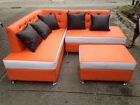 ORANGE SOFA Set <KHOMI> Offioce Furniture and Partition