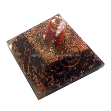 Alibaba's Top Seller Black Tourmaline Orgone Healing Pyramid with Copper Wrapped Crystal Point