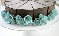 cake slice boxes made from recycled paper suitable for slice cakes in weddings and birthdays