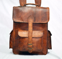 Rucksack handmade Real leather messenger vintage bag backpack/Shoulder handbag