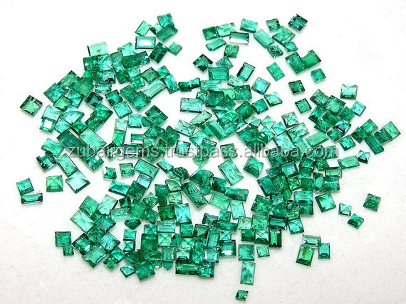 25 Cts Lot SUPERB FINEST Quality Natural Emerald From Zambia Faceted Octagon Shape For Jewelry Setting 1.5MM,2.5 & 4MM Approx