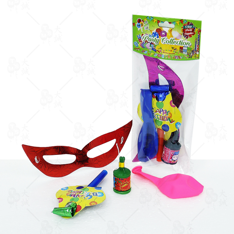 Card Dragon Blow Out Party Pack (4 in 1) Set Included: Card Dragon Blow Out , Single Mask , Champagne Popper , Balloon