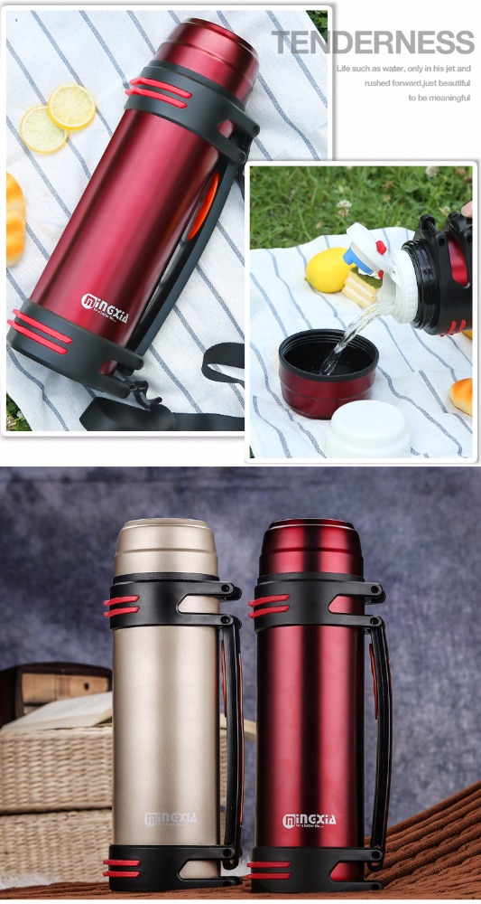 532743606390 vacuum insulation stainless steel thermal flask 2.2L