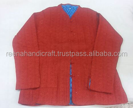 100% COTTON KANTHA QUILTED WINTER JACKET COAT WOMEN All Size