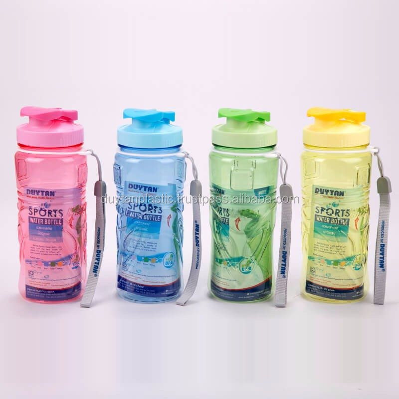 Plastic Bottle/ Plastic Water Bottle/ Plastic Sport Bottle 500ml with Wrist Strap - BPA Free - DUY TAN PLASTICS