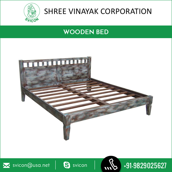 Antique Design Superior Quality Wooden Bed made of High Grade SheSham and Acacia Wood